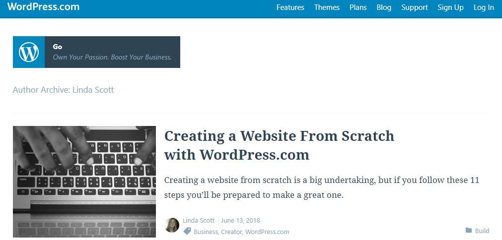 Linda Scott articles on WordPress Go